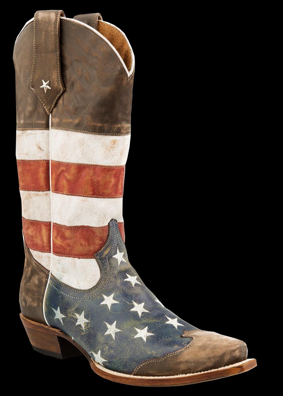 808f5f86017 Roper Men's AMERICAN FLAG - SNIP TOE BROWN TOE CAP Cowboy Boot