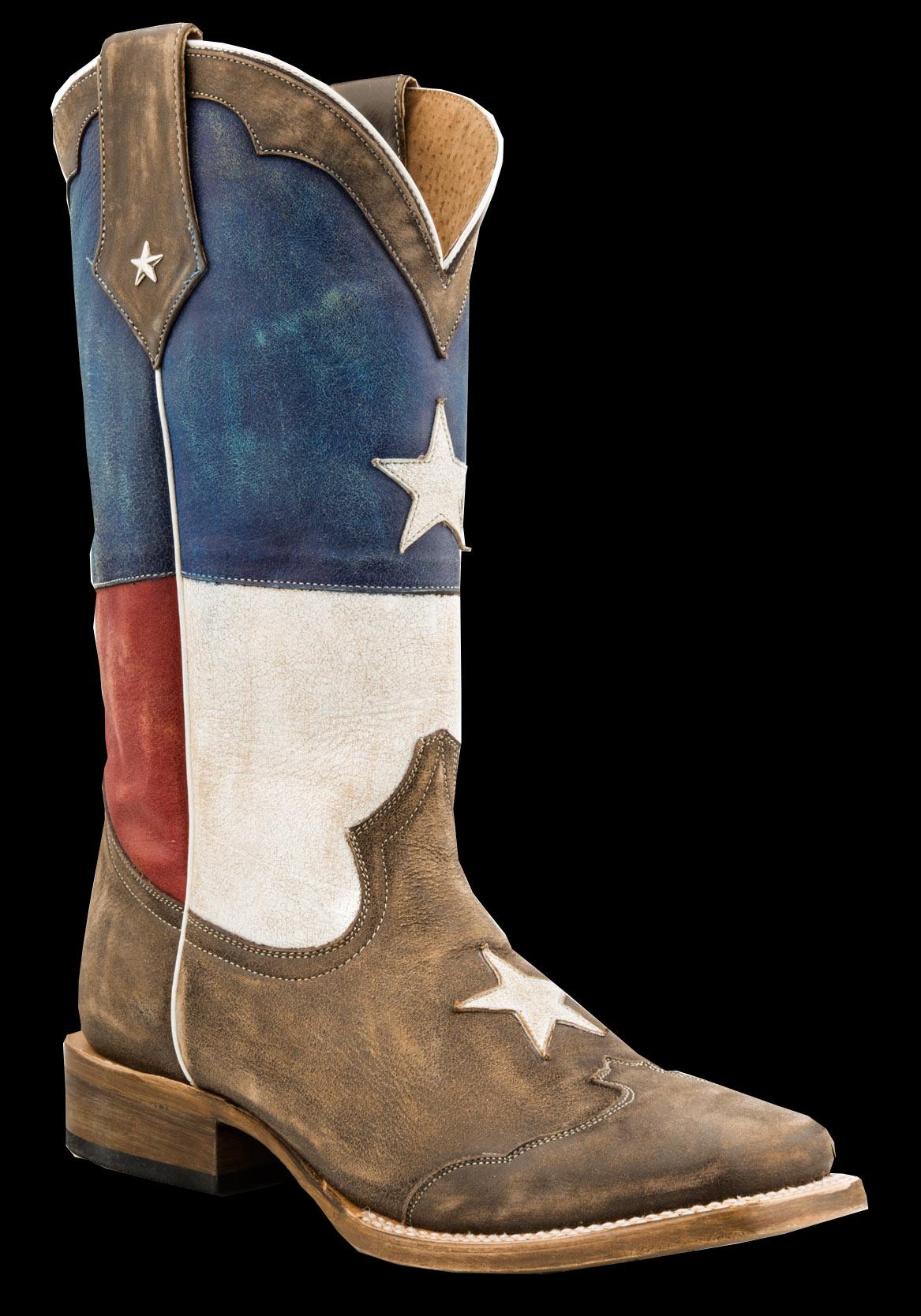 Roper Men S Texas Star Square Toe Cowboy Boot