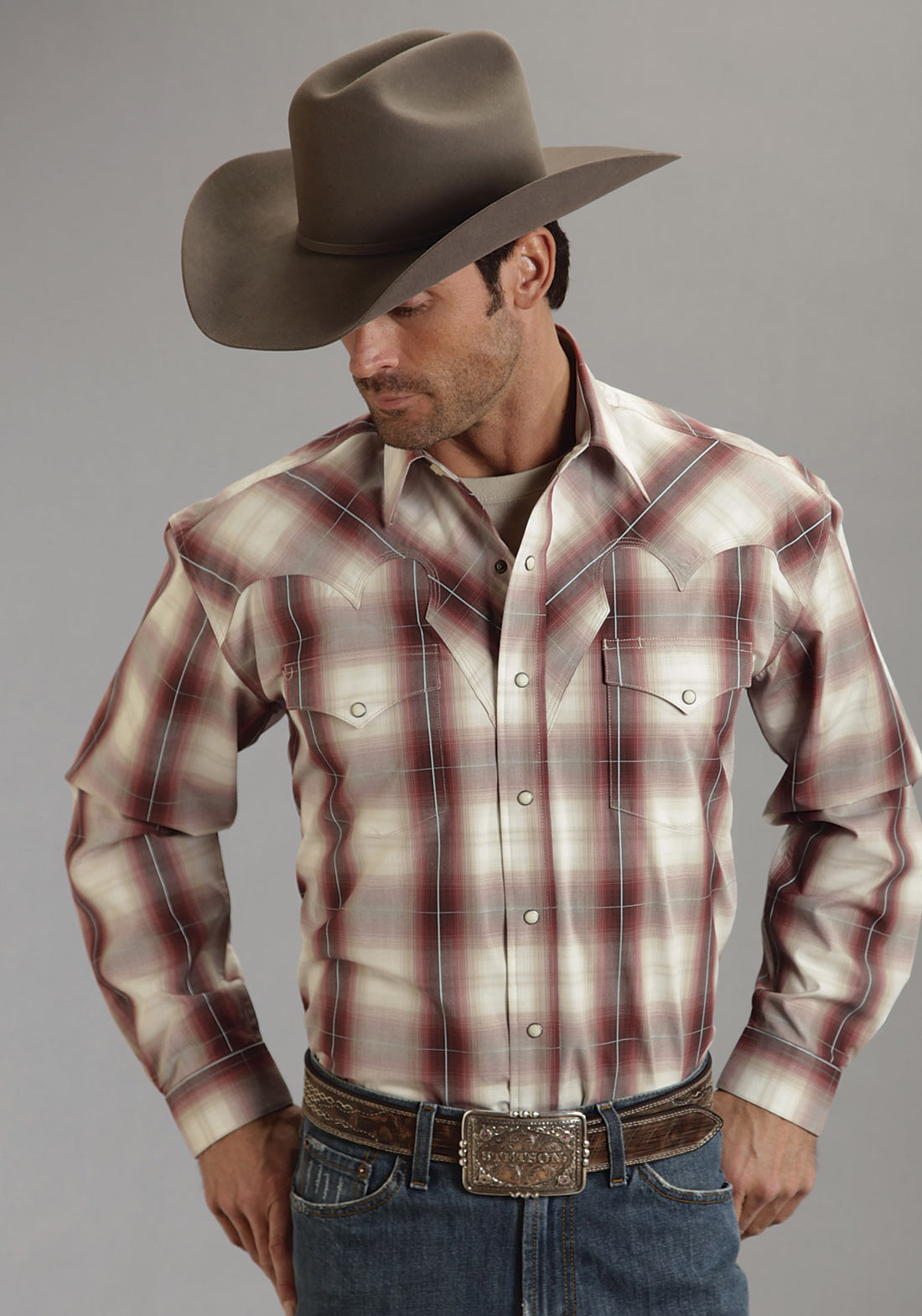 c524ae735772a Stetson Men s HUNTERS PLAID SHIRT