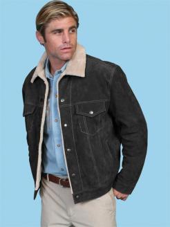 sculy boar suede jacket 113 black