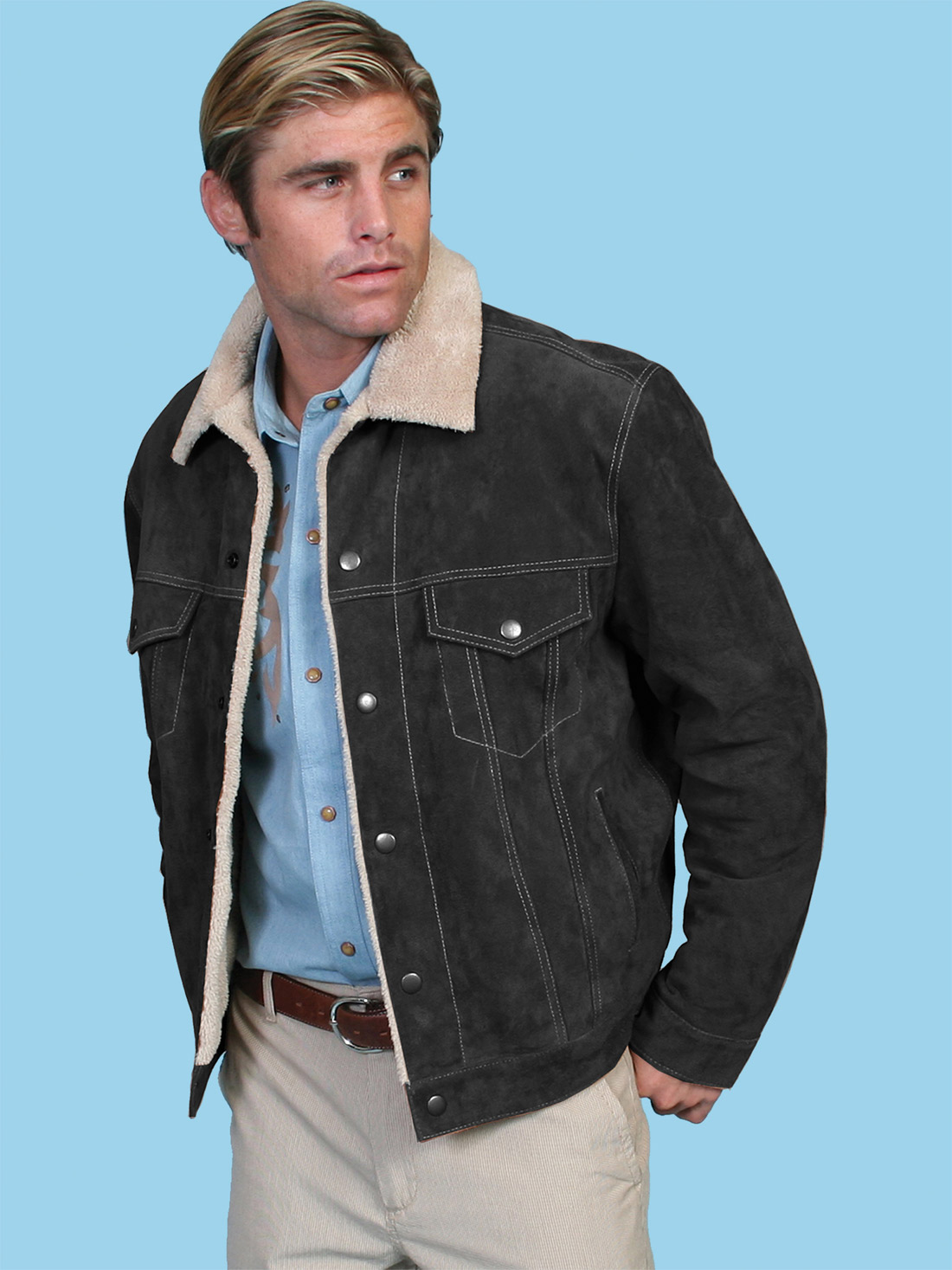 5162d438f77 Scully Men's Boar Suede Jean Jacket- 3 COLORS