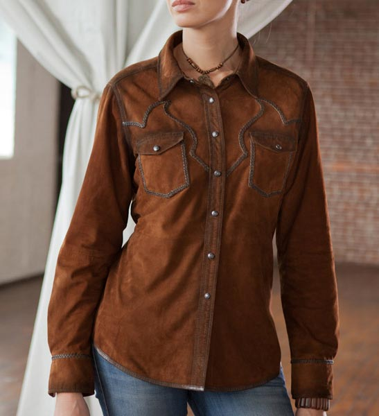 ryan michael women 39 s santa fe leather western shirt
