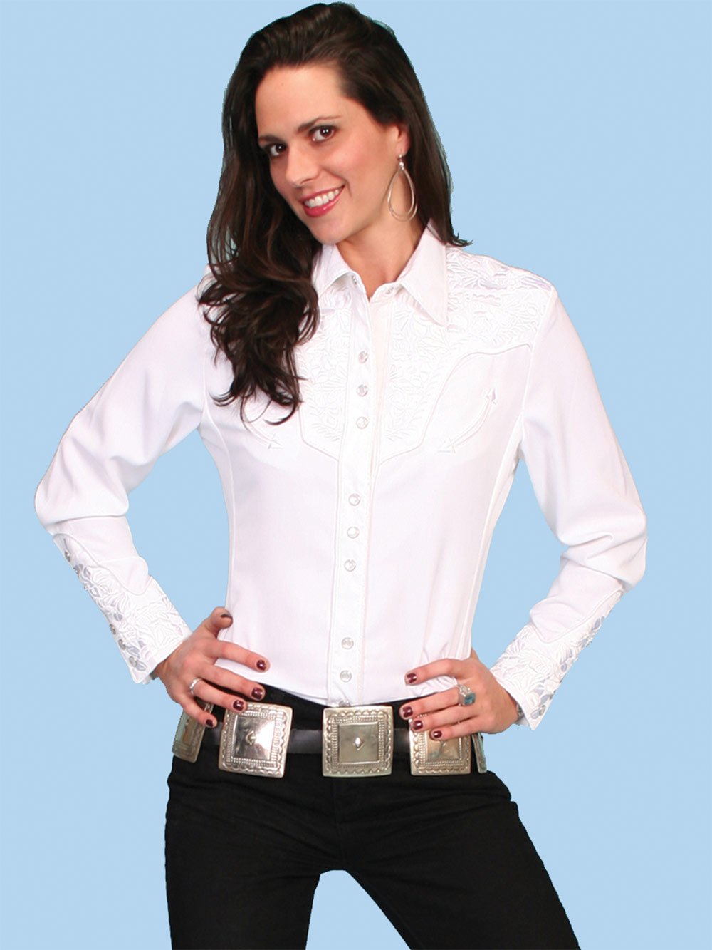 Scully Women's Gunfighter-White