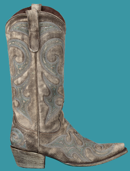 8cd71305c2c Lane Women s Love Sick Cowboy Boots-Brown  Teal   Ivory