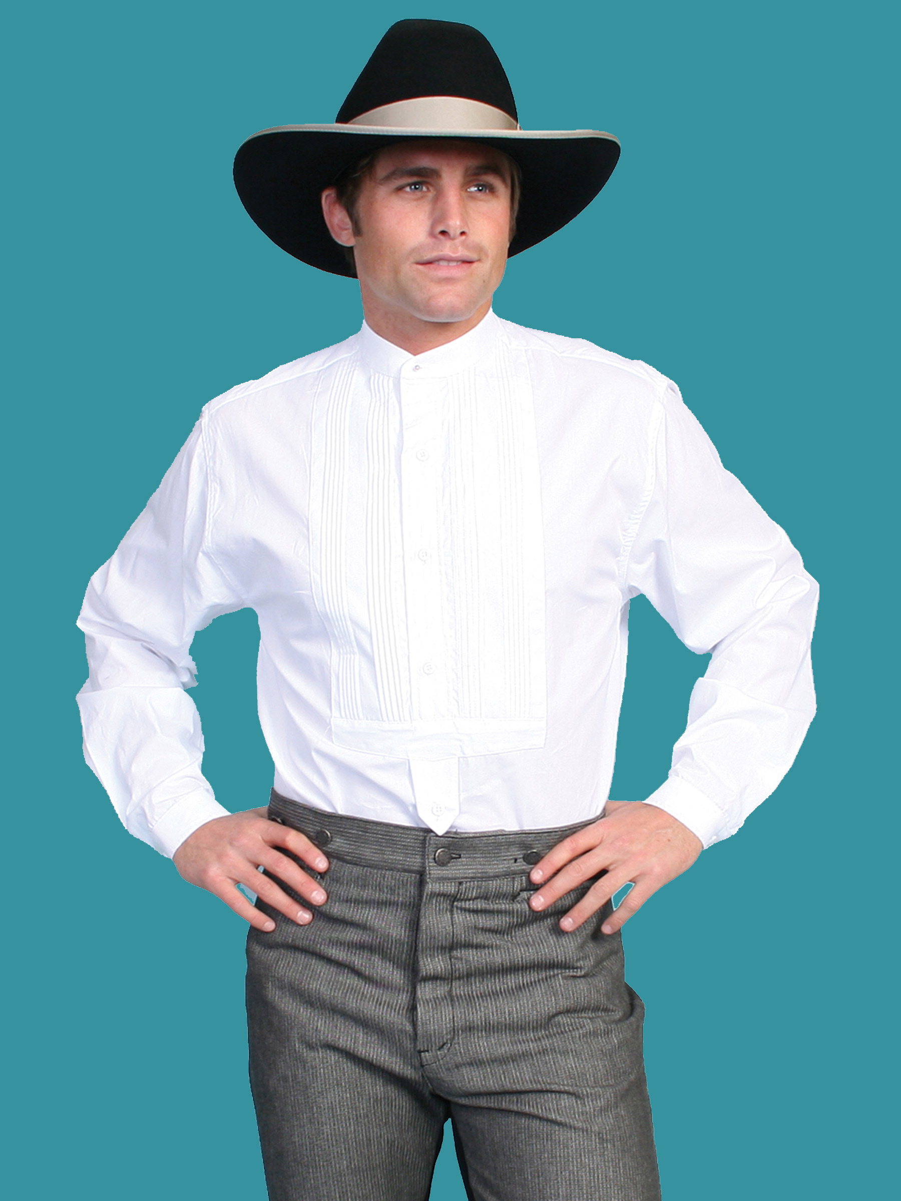 6411aeb6 BIG AND TALL › Rangewear Men's Victorian TUXEDO FRONT SHIRT-WHITE. SCULLY  RW032 WHITE. CLICK or HOVER to ENLARGE
