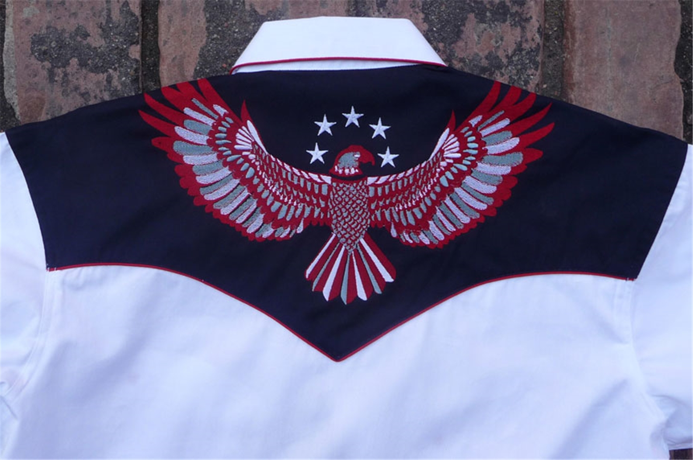 Rockmount men s stars stripes eagle western flag