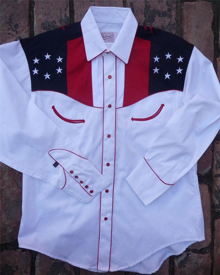 rockmount s stripes eagle western flag shirt