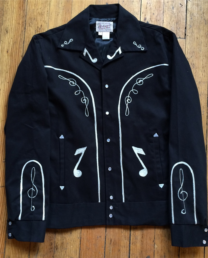 rockmount vintage notes gaberdine jacket black