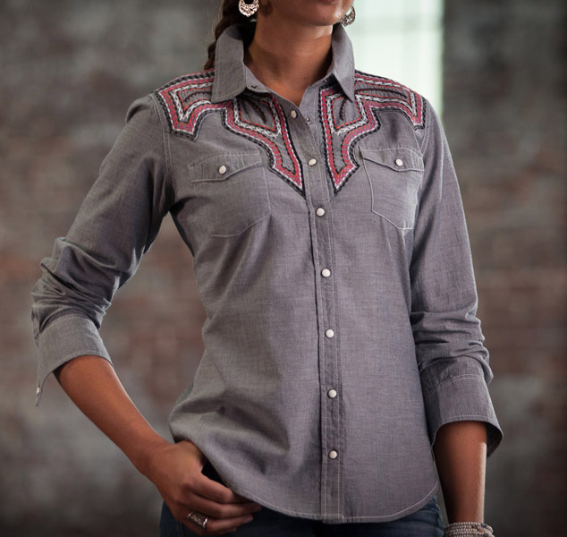 ryan michael women 39 s sante fe embroidered western shirt