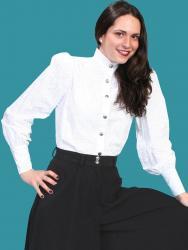 Wahmaker Women's Jennie Blouse-White (710070)