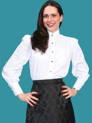 Wahmaker Women's Victorian Blouse- white (775221)