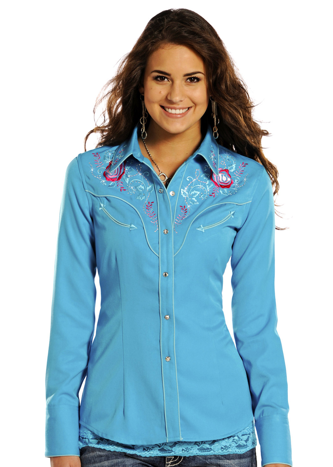 Panhandle Slim Women 39 S Enchanted Bouquet Western Snap Shirt