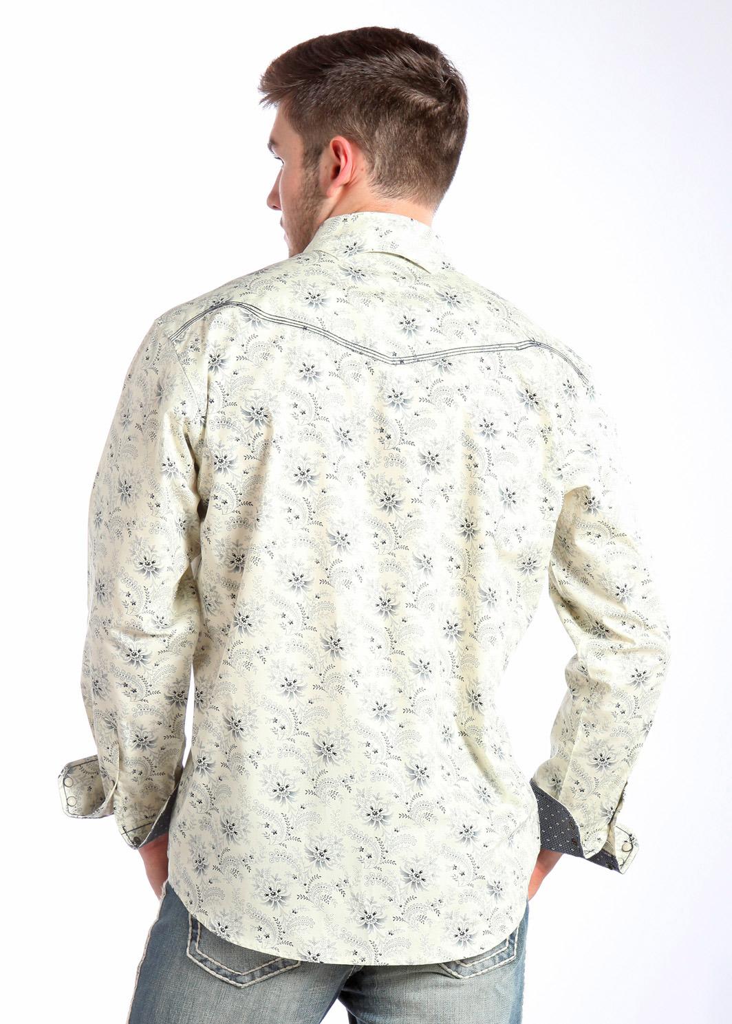 Panhandle Slim Men 39 S Floral Foulard Print Western Snap Shirt