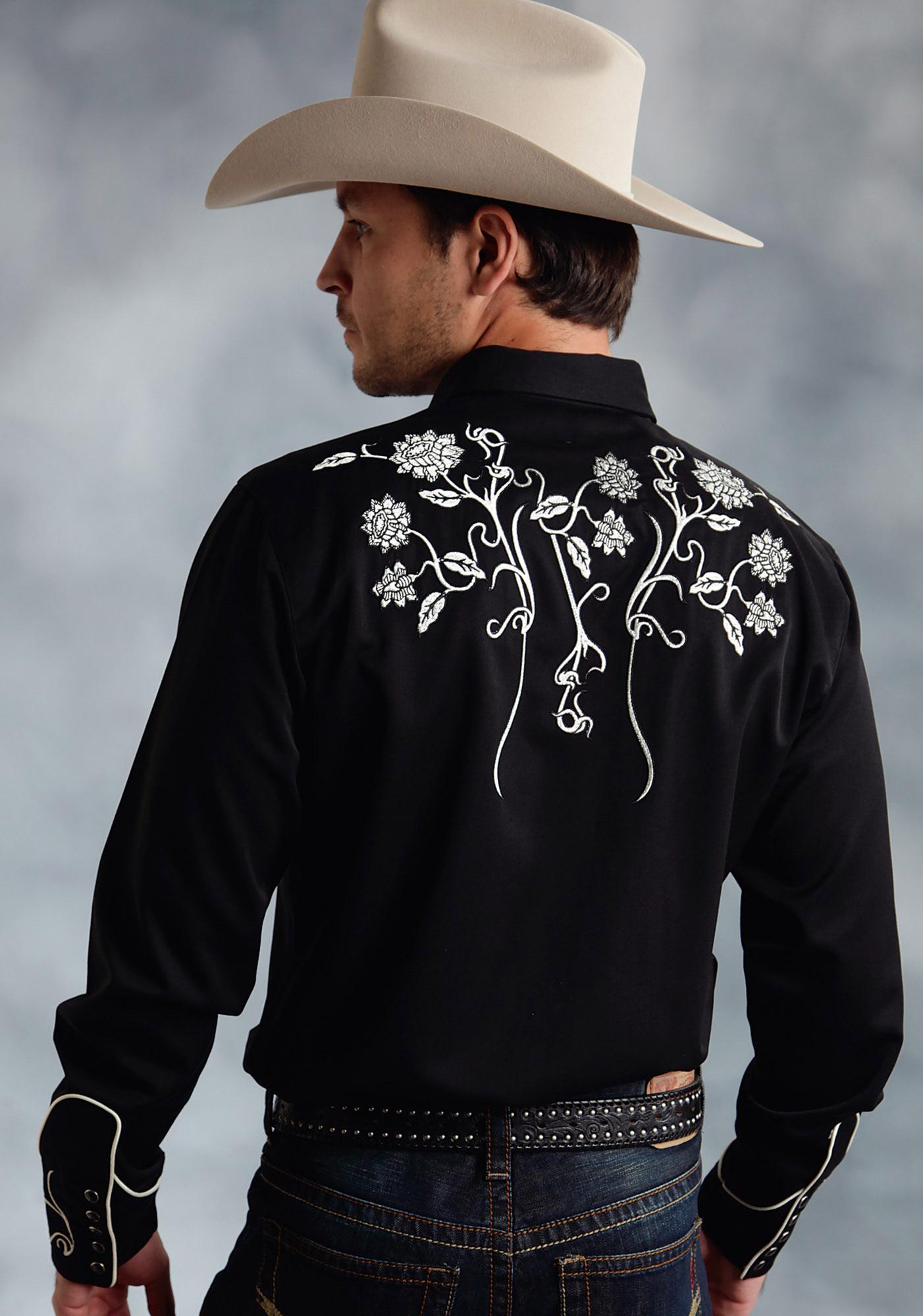 Roper Men 39 S Vintage Floral Vine Western Shirt