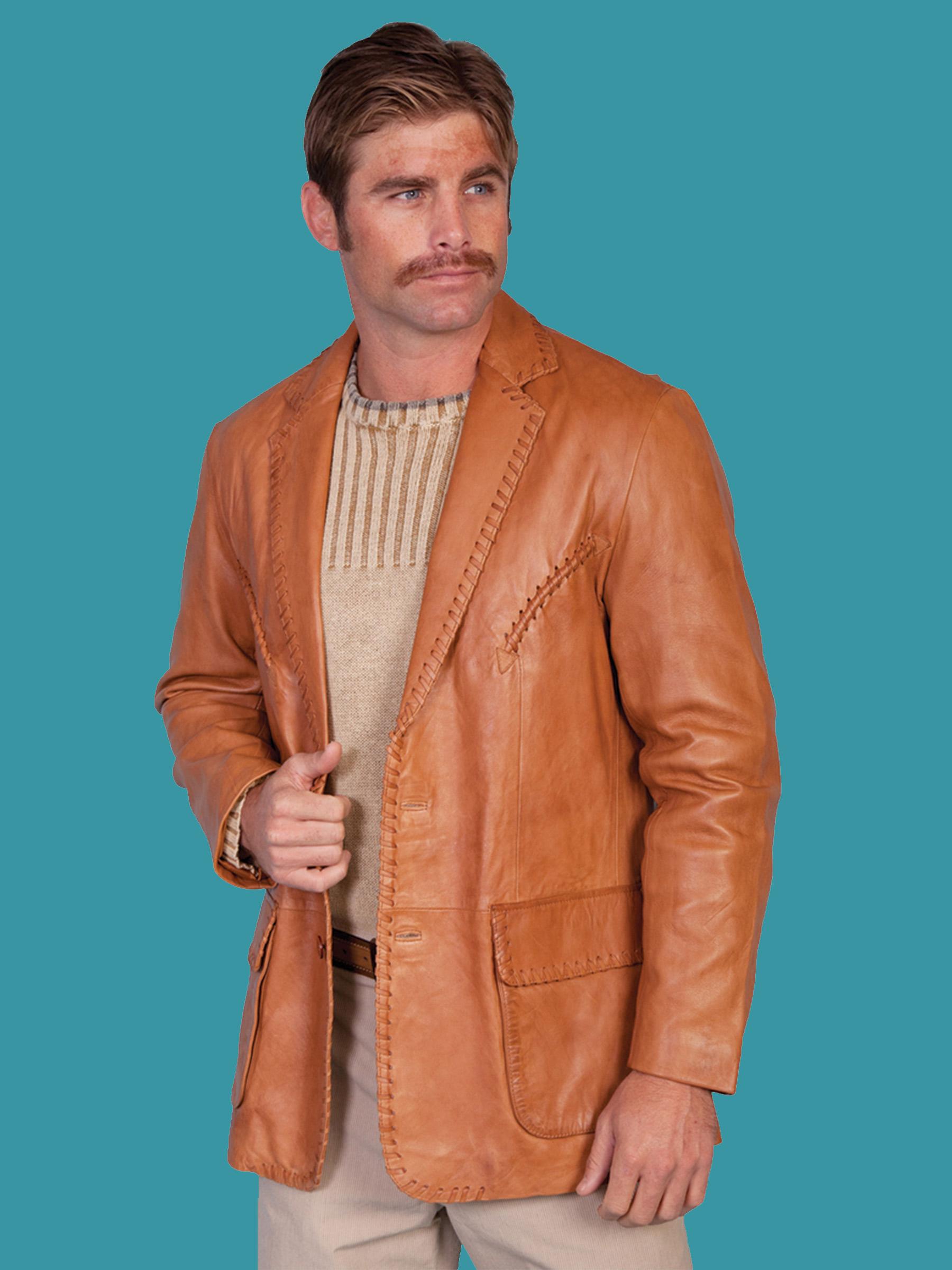 Italian leather mens jackets