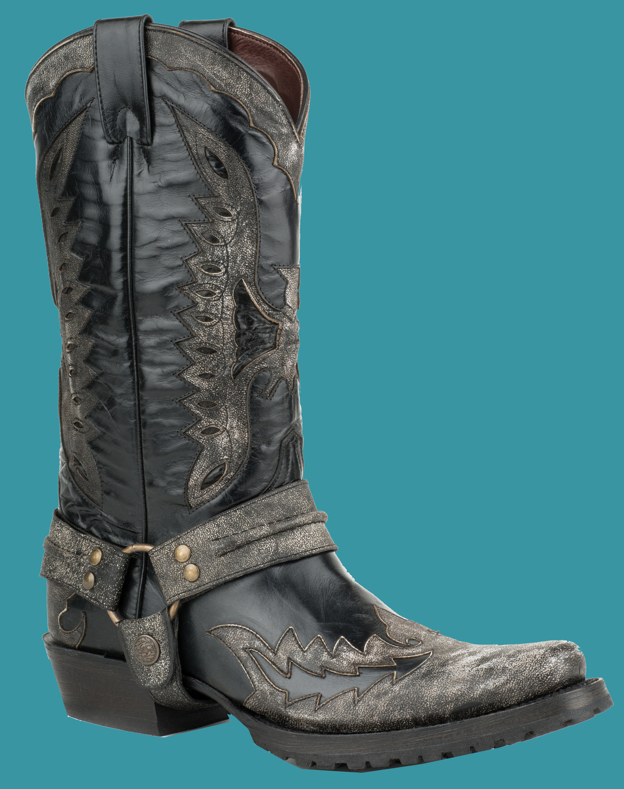 RUBBERSOLE OUTLAW TOE Cowboy Boot