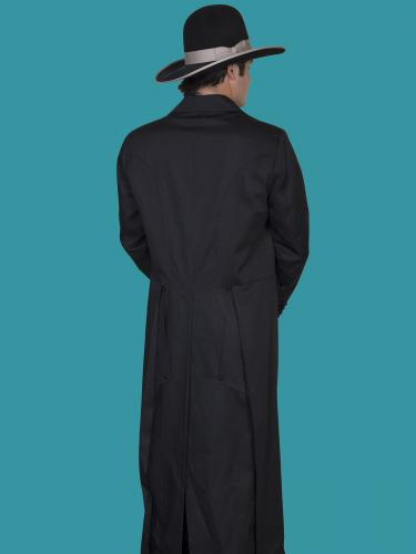WAHMAKER Long Frock Coat-Black BACK