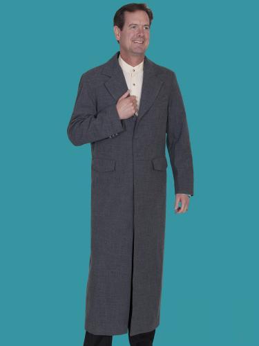 WAHMAKER Long Frock Coat-HEATHER FRONT