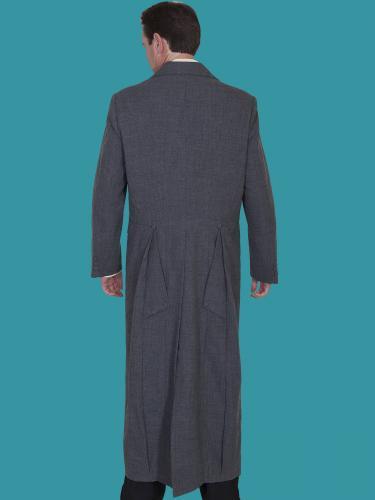 WAHMAKER Long Frock Coat-HEATHER BACK