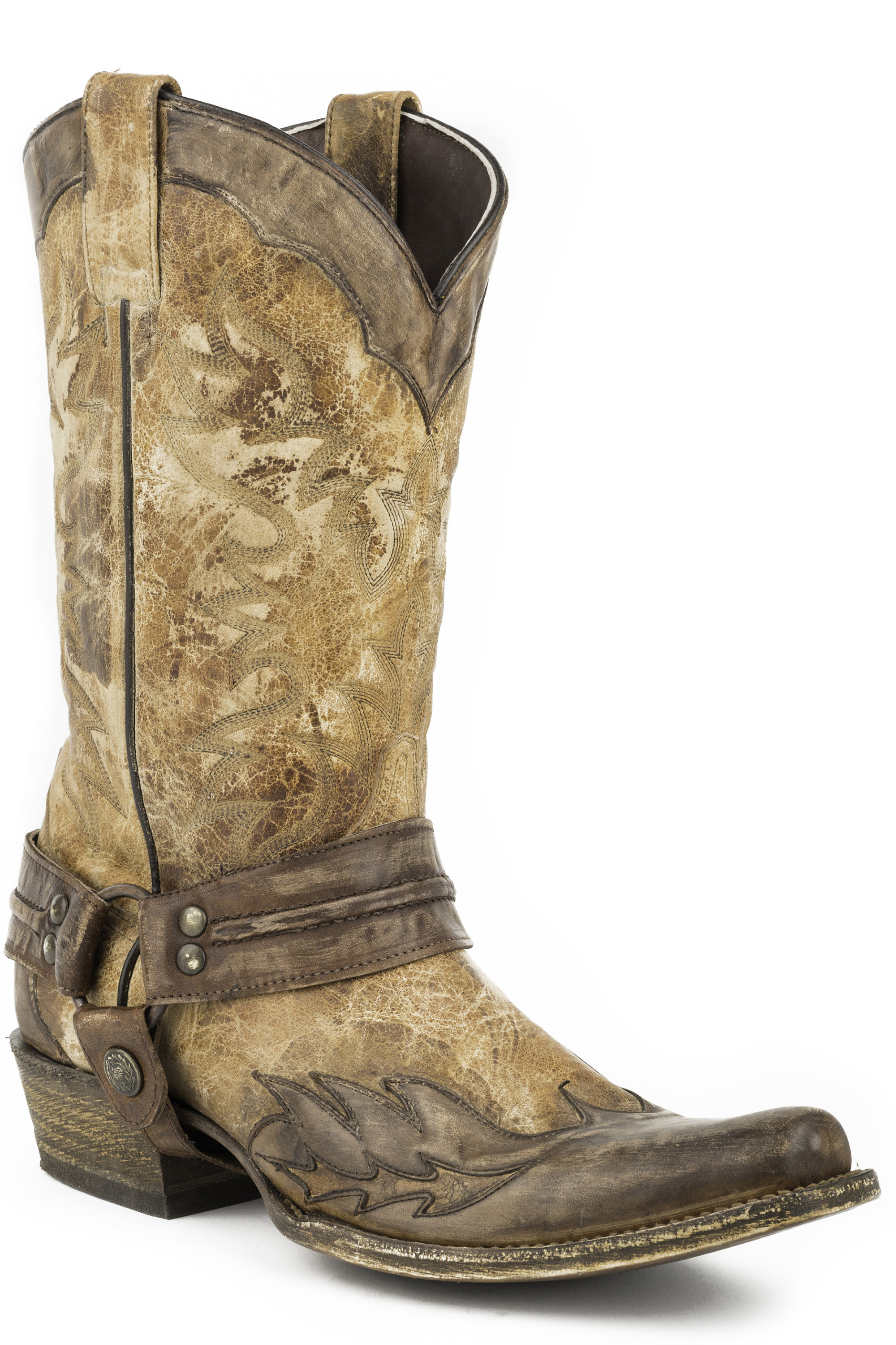 stetson s washed crater brown wingtip cowboy boots