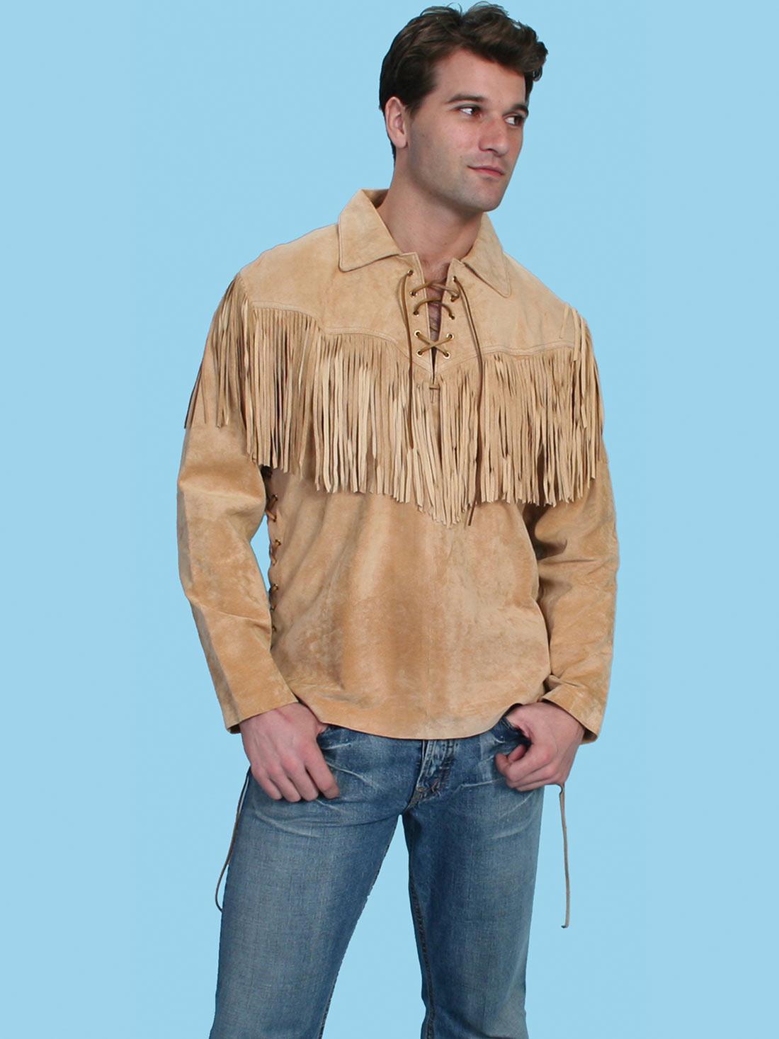 072b5587 Western Shirt With Fringe Mens | RLDM