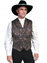 Wahmaker Men's Paisely Vest-NAVY (584844-NAV)