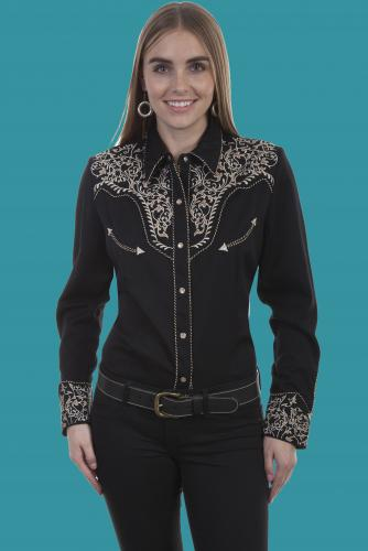 SCULLY PL-866-BLACK FRONT