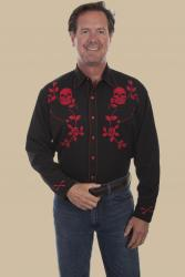 4fc10ad9eb Rockmount Men's Vintage Hops Embroidered WESTERN SNAP SHIRT-BLACK. $94.99.  SCULLY P-771 FRONT