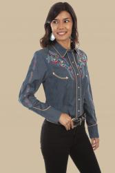 SCULLY PL-878- DENIM FRONT