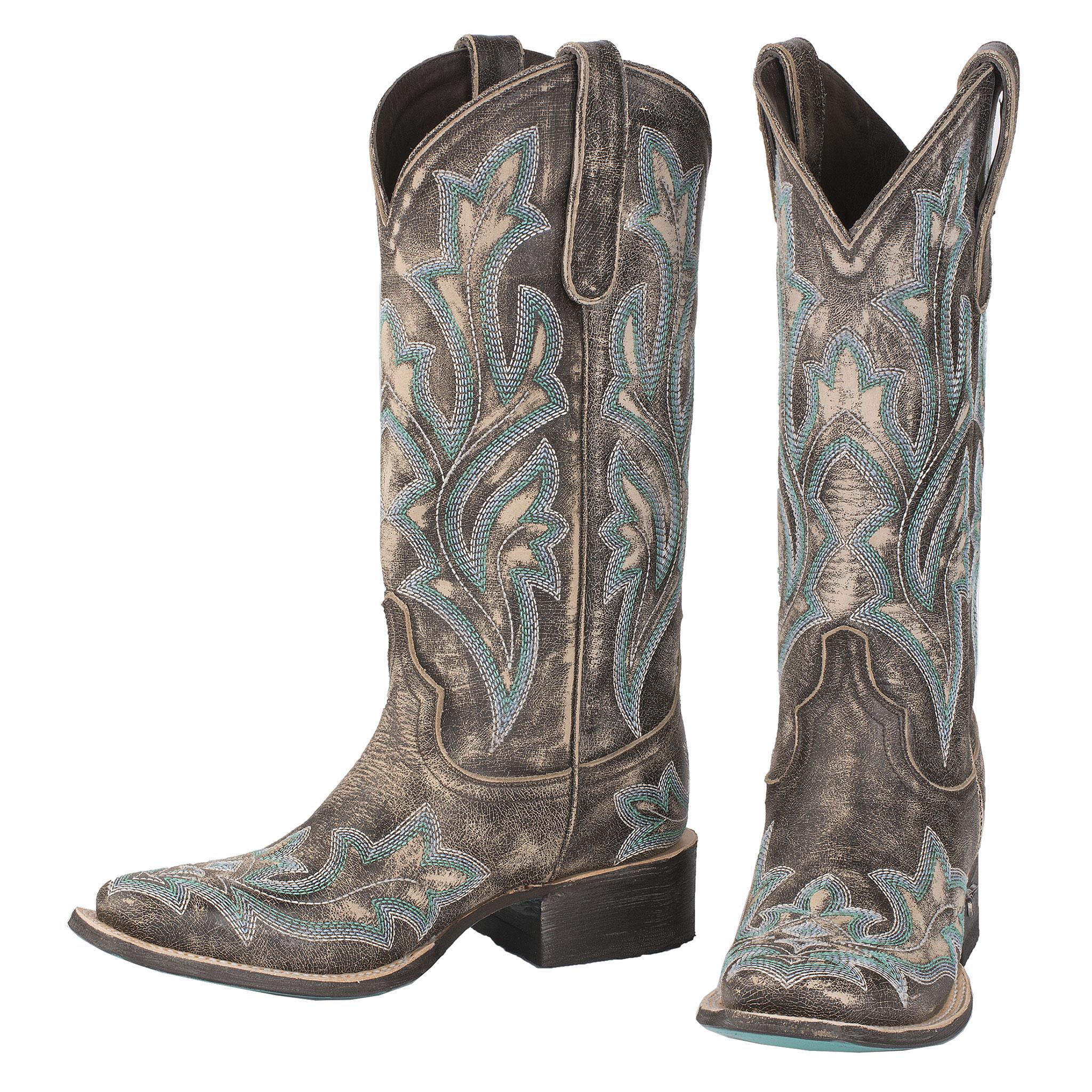 Lane Women/'s Saratoga Ashwood Square Toe Western Boots LB0396D